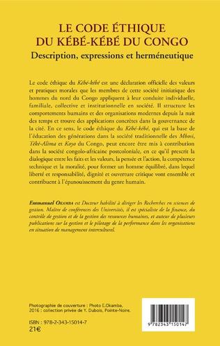 4eme Le code éthique du kébé-kébé du Congo