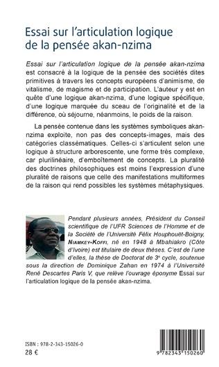4eme Essai sur l'articulation logique de la pensée akan-nzima