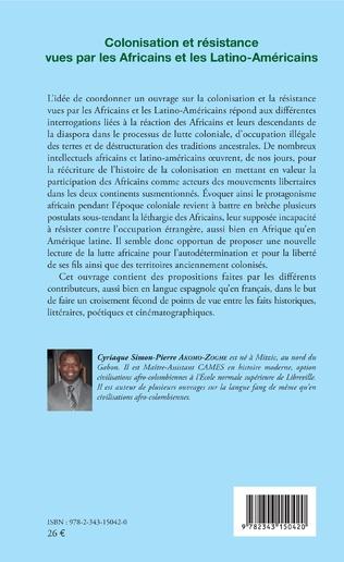 4eme Colonisation et résistance vues par les Africains et les Latino-Américains