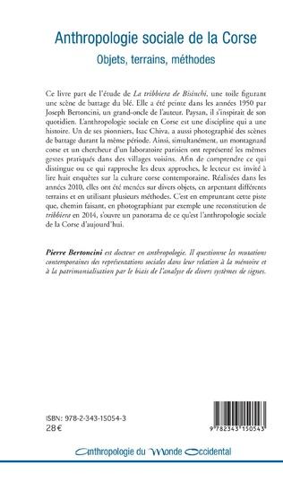 4eme Anthropologie sociale de la Corse