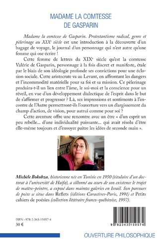 4eme Madame la comtesse de Gasparin