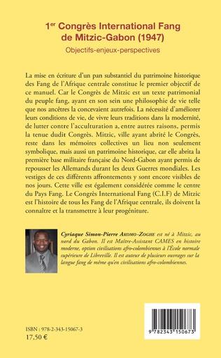 4eme 1er Congrès International Fang de Mitzic-Gabon (1947)