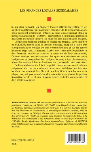 4eme Les finances locales sénégalaises