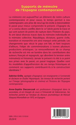 4eme Supports de mémoire de l'Espagne contemporaine