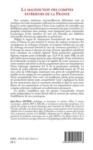 4eme La malédiction des comptes extérieurs de la France