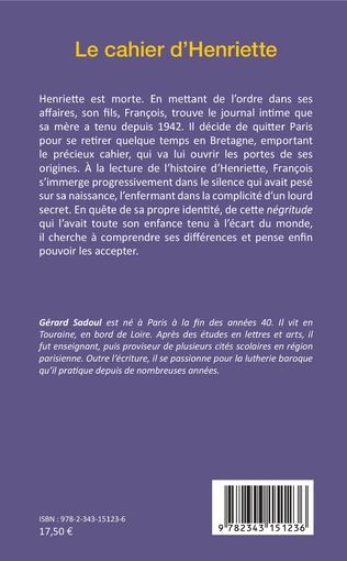 4eme Le cahier d'Henriette