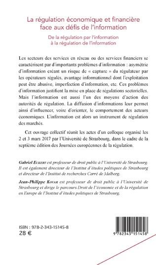 4eme La régulation économique et financière face aux défis de l'information