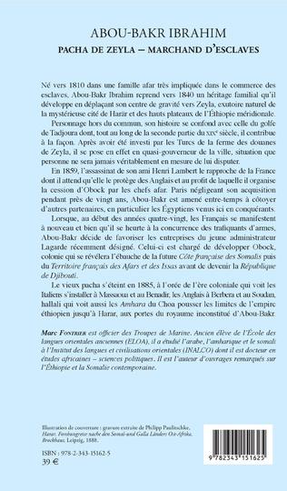 4eme Abou-Bakr Ibrahim. Pacha de Zeyla - Marchand d'esclaves