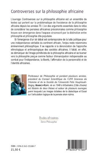 4eme Controverses sur la philosophie africaine