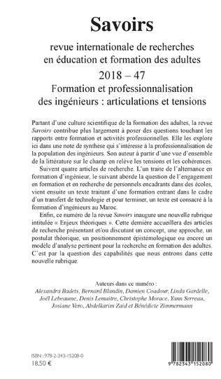 4eme Formation et professionnalisation des ingénieurs : articulations et tensions