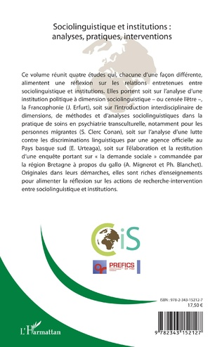 4eme Cahiers Internationaux de sociolinguistique n°13