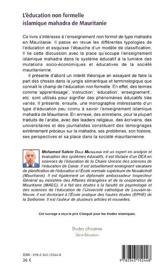 4eme L'éducation non formelle islamique mahadra de Mauritanie