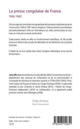 4eme La presse congolaise de France 1995-1997