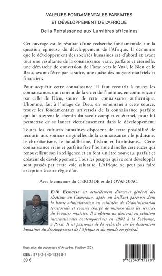4eme Valeurs fondamentales parfaites et développement de l'Afrique