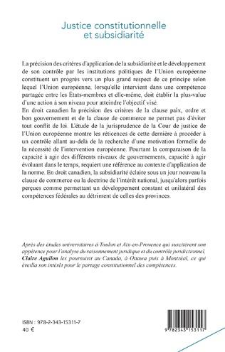 4eme Justice constitutionnelle et subsidiarité