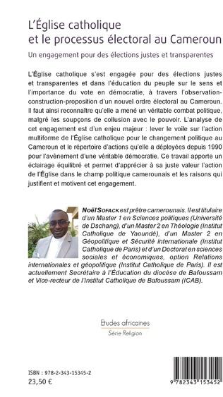 4eme L'église catholique et le processus électoral au Cameroun