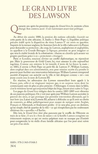 4eme Le grand livre des Lawson  Tome 2 1883 1932