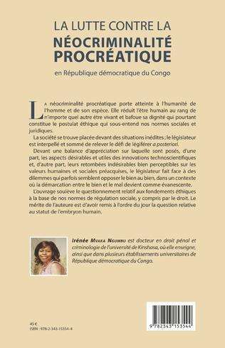 4eme La lutte contre la néocriminalité procréatique en république démocratique du Congo