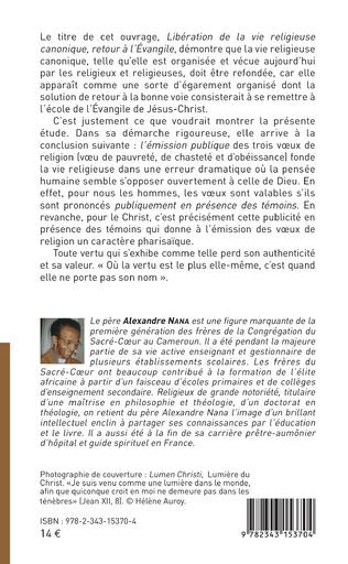 4eme LIBERATION DE LA VIE RELIGIEUSE CANONIQUE