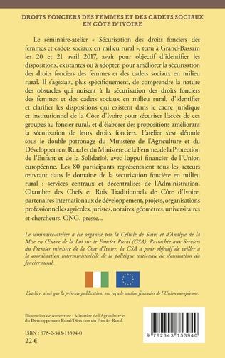 4eme Droits fonciers des femmes et des cadets sociaux en Côte d'Ivoire
