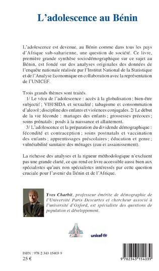 4eme L'adolescence au Bénin