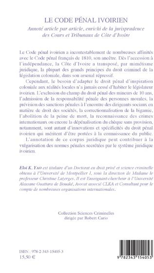 4eme Le code pénal ivoirien