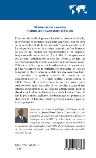 4eme Décentralisation chaotique en République démocratique du Congo