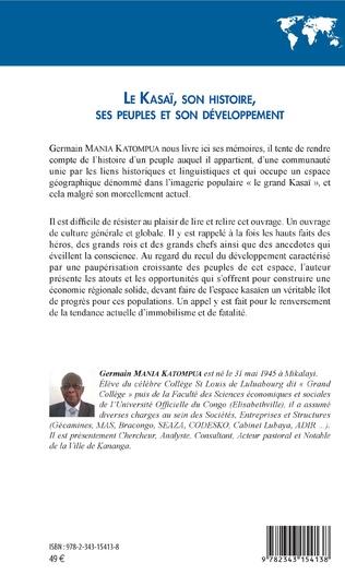 4eme Le Kasaï, son histoire, ses peuples et son développement