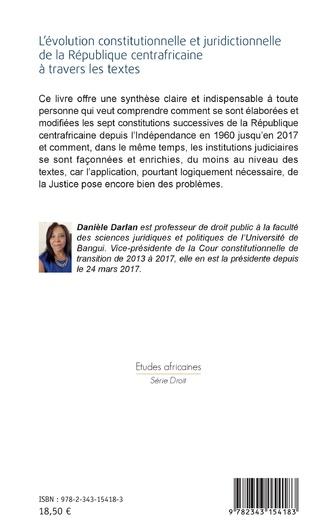 4eme L'évolution constitutionnelle et juridictionnelle de la République centrafricaine à travers les textes