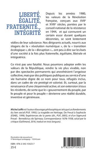 4eme Liberté, égalité, fraternité... Intégrité