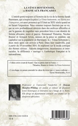 4eme La Vénus hottentote ou Haine aux Françaises