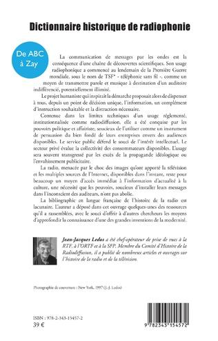 4eme Dictionnaire historique de radiophonie