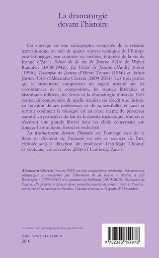 4eme La dramaturgie devant l'histoire
