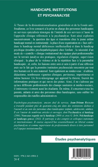 4eme Handicaps, institutions et psychanalyse