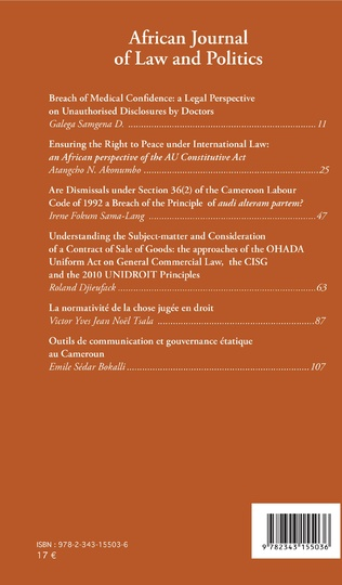 4eme African Journal of Law and Politics