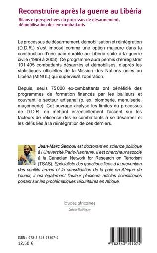 4eme Reconstruire après la guerre au Libéria