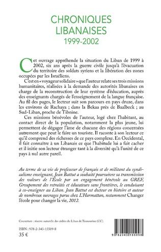 4eme Chroniques libanaises