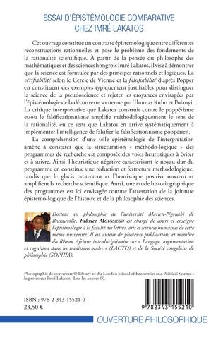 4eme Essai d'épistémologie comparative chez Imré Lakatos