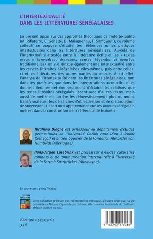 4eme L'intertextualité dans les littératures sénégalaises