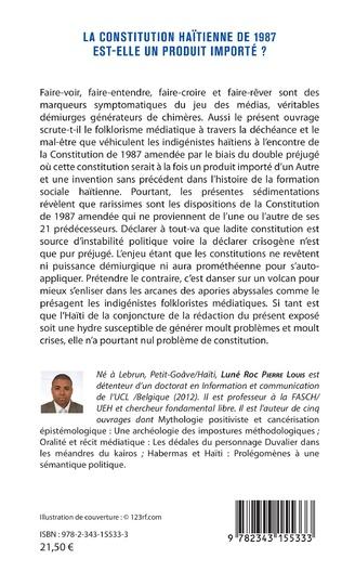 4eme La constitution haïtienne de 1987 est-elle un produit importé ?