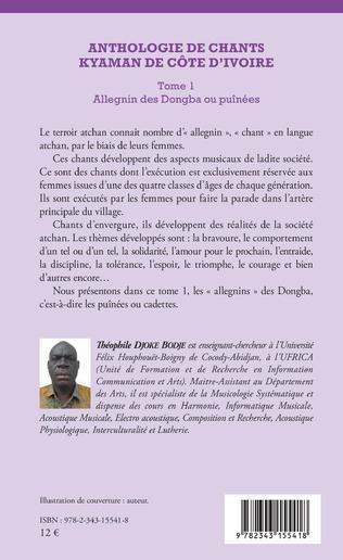 4eme Anthologie de chants kyaman de Côte d'ivoire Tome 1