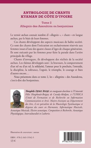 4eme Anthologie de chants kyaman de Côte d'ivoire Tome 2