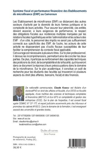 4eme Système fiscal et performance financière des Etablissements de microfinance (EMF) au Cameroun