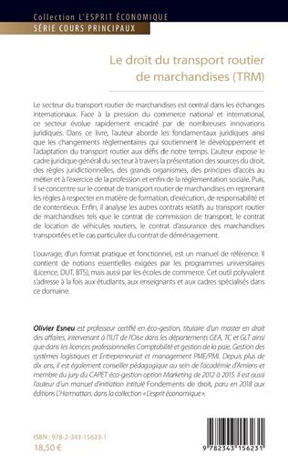4eme Le droit du transport routier de marchandises (TRM)