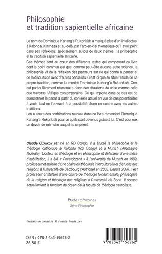 4eme Philosophie et tradition sapientielle africaine