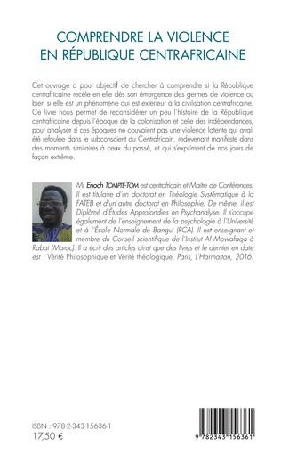4eme Comprendre la violence en République centrafricaine