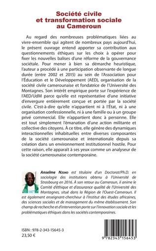 4eme Société civile et transformation sociale au Cameroun