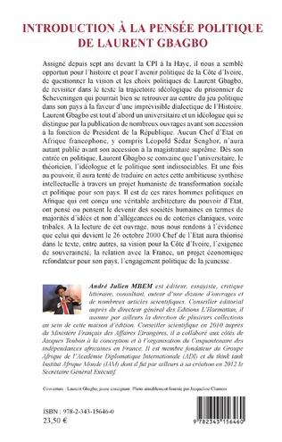 4eme Introduction à la pensée politique de Laurent Gbagbo