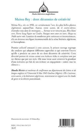 4eme Maïssa Bey : deux décennies de créativité