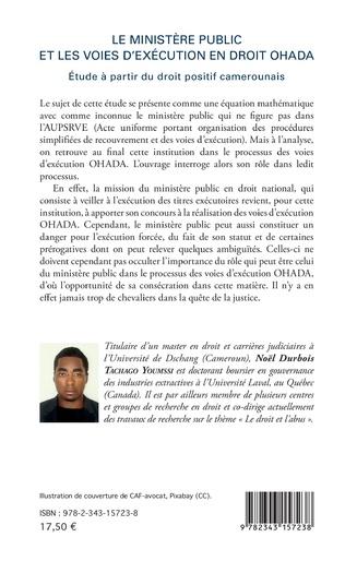 4eme Le ministère public et les voies d'exécution en droit OHADA
